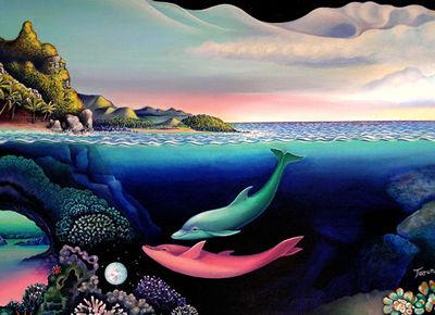 3d dolphin wallpaper - dolphin dream 4
